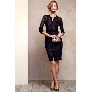 Beguile by Byron Lars Mona Black Lace Dress